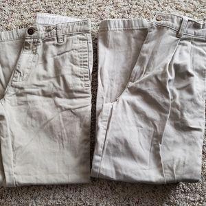 Boys Khaki Beige Pants Size 12 Lot of 2